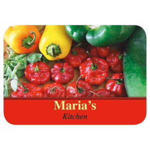 Chili Peppers Personalized Cutting Board