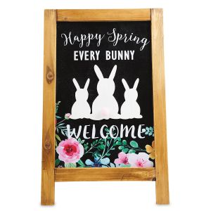 Welcome Bunny Easel Sign