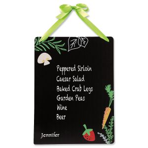 Personalized Kitchen Herbs Chalkboard