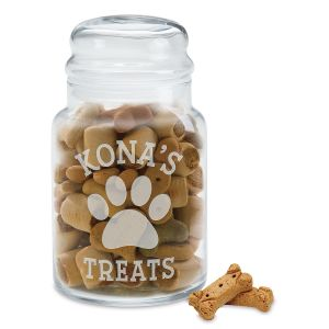 Personalized Treat Jar for Dog's