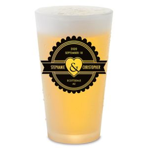 Wedding Pint Glass