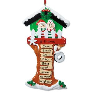 Christmas Tree House Personalized Christmas Ornament