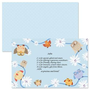 Owls Name Poem Placemat
