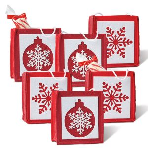 Christmas Snowflakes & Ornaments Felt Party Treat Bags