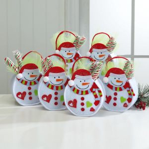 Christmas Snowman Felt Treat Bags