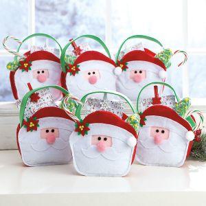 Santa Face Felt Treat Bags