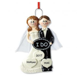 Personalized I Do Wedding Ornament