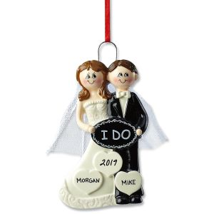 I Do Wedding Personalized Ornament