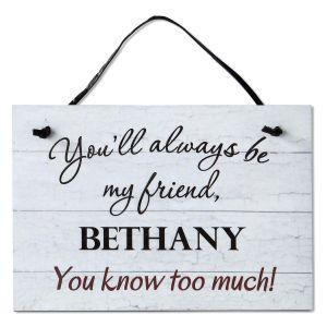 Personalized Friend Plaque