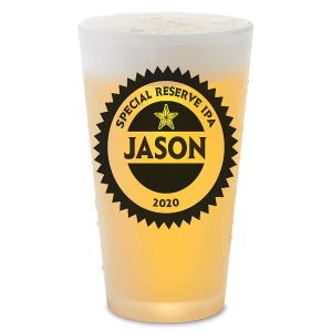 Your Name Personalized Bar Glass