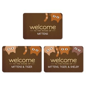 Personalized Cat Welcome Doormat