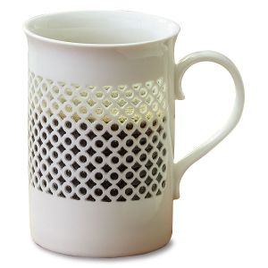 Elegant Cutout Pattern Mug by Lillian Vernon