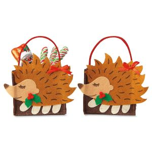 Hedgehog Felt Party Treat Bags