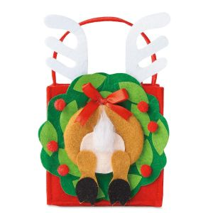 Reindeer Rear Felt Party Treat Bags