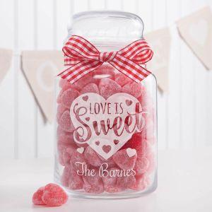 Personalized Love Is Sweet Treat Jar