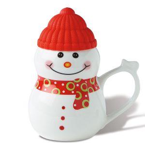Snowman Mug with Lid