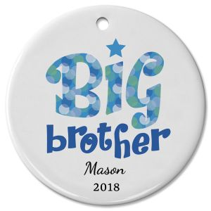 Personalized Big Brother Ceramic Christmas Ornament
