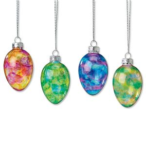 Easter Eggs Glass Ornaments