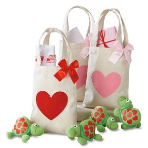 Canvas Mini Valentine Treat Bags