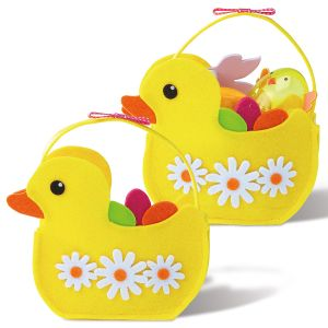 Easter Felt Duck Treat Bags