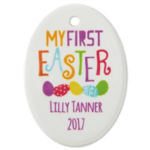 Baby's First Personalized Easter Ornament