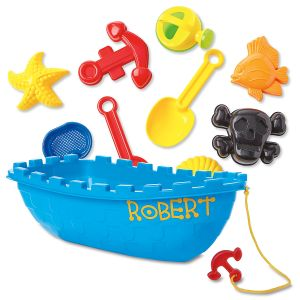 Pirate Personalized Boat Sand Toy