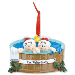 Hot Tub Family Personalized Ornaments