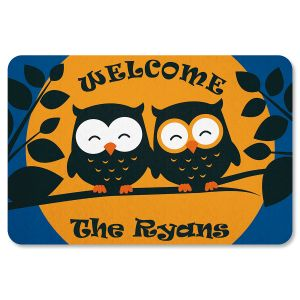 Owl Personalized Halloween Doormat