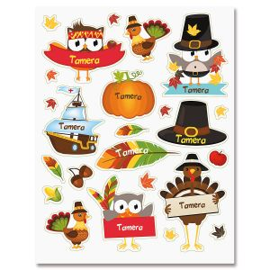 Personalized Thanksgiving Stickers