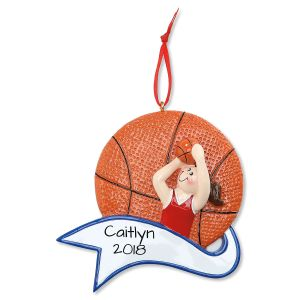 Basketball Girl Personalized Christmas Ornament