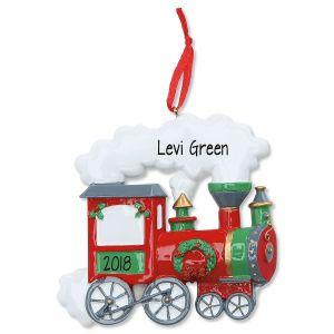 Train Personalized Christmas Ornament