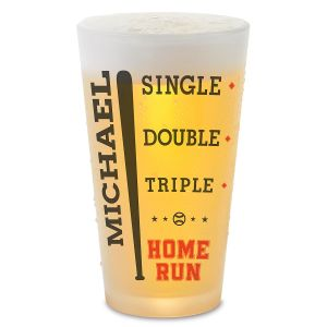 Baseball Personalized Pint Beer Glass