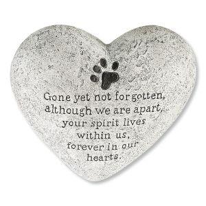 Dog Memory Heart Stone