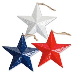 Patriotic Metal Star Ornaments