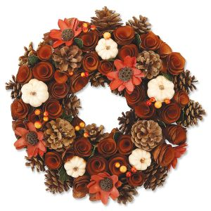Wood Curl Autumn Wreath