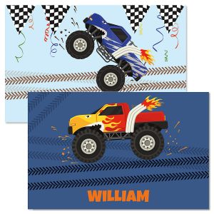 Personalized Monster Truck Kids' Placemat