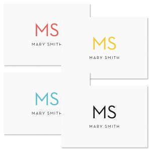 Minimalist Monogram Folded Note Cards
