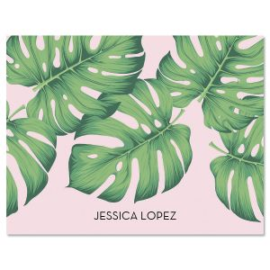 Pink Palms Folded Note Cards
