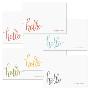 Handwritten Hello Folded Note Card