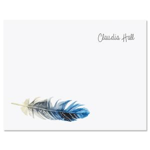 Boho Feather Folded Note Cards