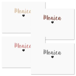 Mini Heart Folded Note Cards