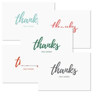 Simple Thanks Folded Note Cards