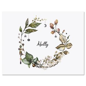 Whimsical Wreath Folded Note Cards