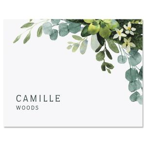 Olive Bloom Folded Note Cards