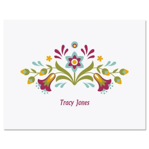 Floral Fiesta Folded Note Cards