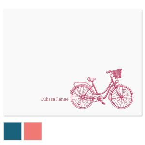 Sketch Bicycle Folded Note Cards