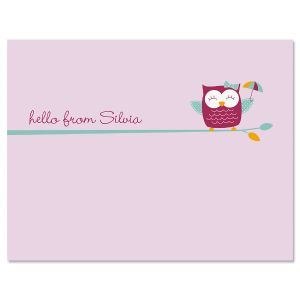 Sweet Owl Folded Note Cards