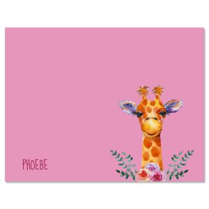 Mini Giraffe Folded Note Cards
