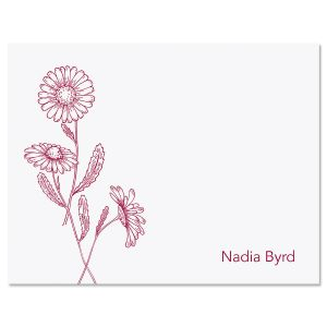Wild Daisies Folded Note Cards