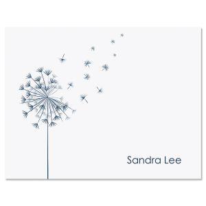 Wispy Dandelion Folded Note Cards